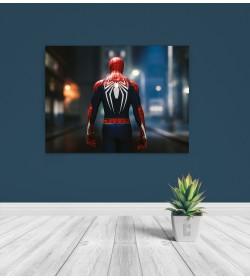 pr1837a Πίνακας σε καμβά Spiderman