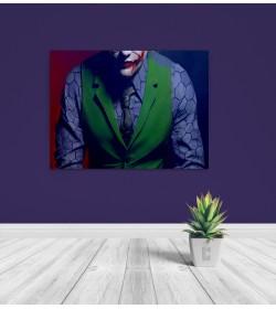 pr1839 Πίνακας σε καμβά Joker Half Face