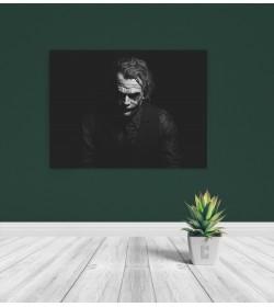 pr1840 Πίνακας σε καμβά Joker Black