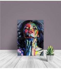 Πίνακας Σε Καμβά : Portrait painting Art Woman
