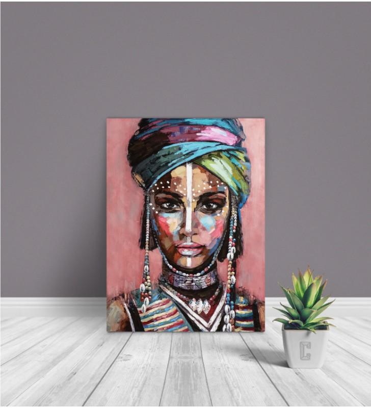 Πίνακας Σε Καμβά : Desert Lady in a turban painting