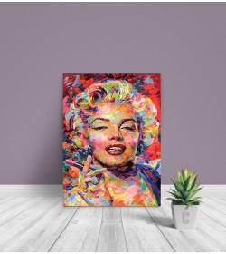 Πίνακας Σε Καμβά : colorful paint Marilyn Monroe