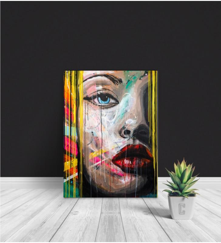 Πίνακας Σε Καμβά : woman Portrait Pop Art