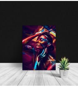 Πίνακας Σε Καμβά : women portrait colourful