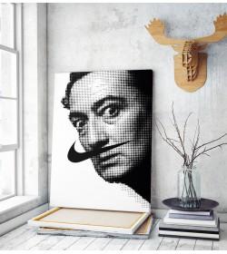Πίνακας σε Καμβά : Salvador Dali dot art