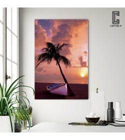 Πίνακας Σε Καμβά Φοίνικας βάρκα ηλιοβασίλεμα θάλασσα