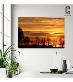 Πίνακας σε καμβά Δέντρα Ηλιοβασίλεμα