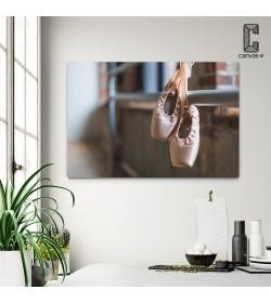 Πίνακας σε καμβά Ροζ Πουέντ