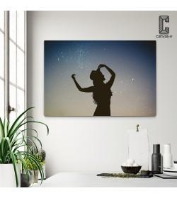Πίνακας σε καμβά Σιλουέτα Χορέυτριας