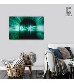 Πίνακας σε καμβά DANCE Επιγραφή Neon