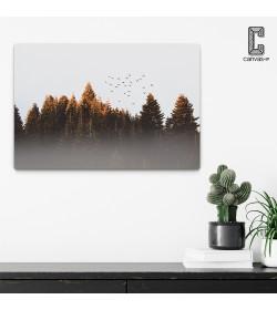 Πίνακας σε καμβά Σμήνος Πουλιών σε Δάσος