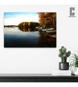 Πίνακας σε καμβά Φθινοπωρινή Λίμνη