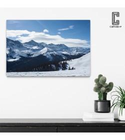 Πίνακας σε καμβά Χιονισμένο Βουνό