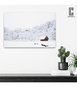 Πίνακας σε καμβά Σπίτι στο Βουνό