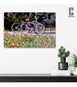 Πίνακας σε καμβά Ποδήλατο - Άνοιξη