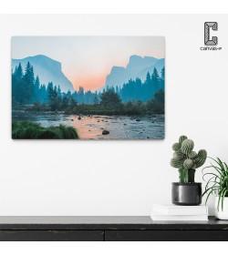 Πίνακας σε καμβά Λίμνη Ηλιοβασίλεμα