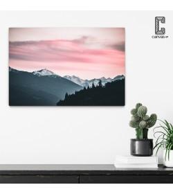 Πίνακας σε καμβά Ροζ Ουρανός