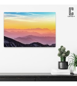 Πίνακας σε καμβά Σιλουέτες Βουνών