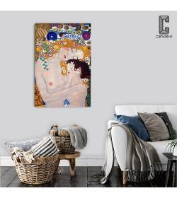 Πίνακας σε καμβά Klimt Η μητέρα στη τέχνη