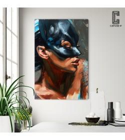 Πίνακας σε καμβά Cat Woman Painting